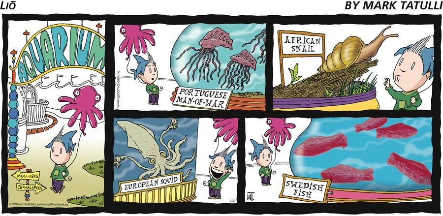 Lio for Feb 22, 2009 Comic Strip