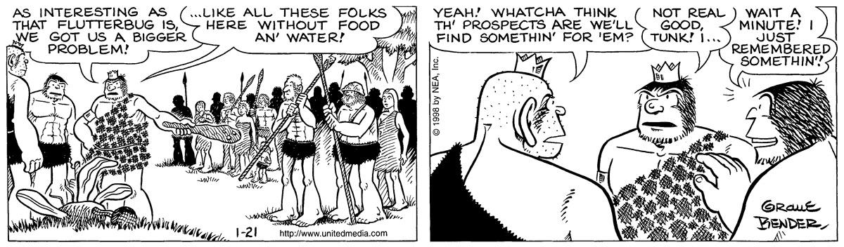 Alley Oop for Jan 21, 1998 Comic Strip