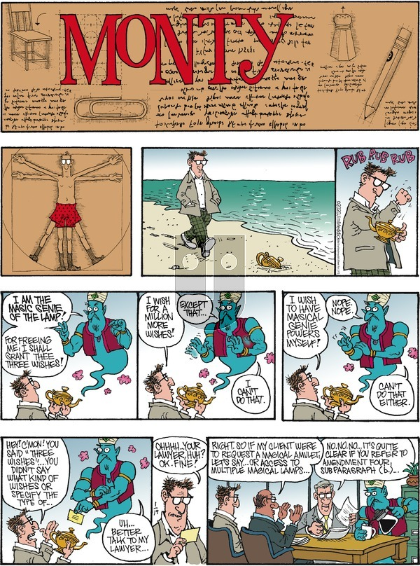 Monty on Sunday January 19, 2020 Comic Strip