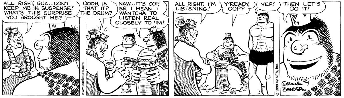 Alley Oop for Mar 24, 1999 Comic Strip