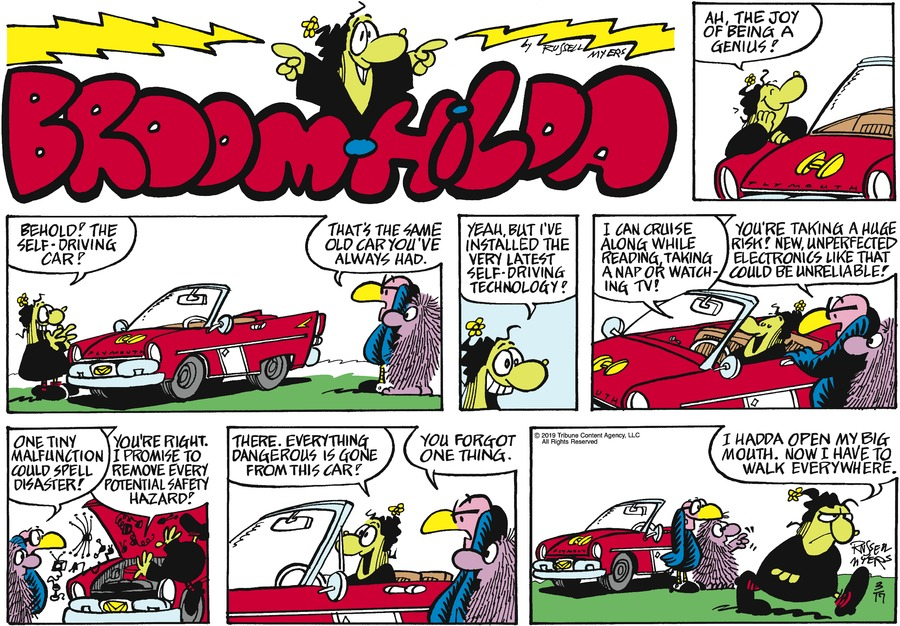 Broom Hilda by Russell Myers for March 17, 2019