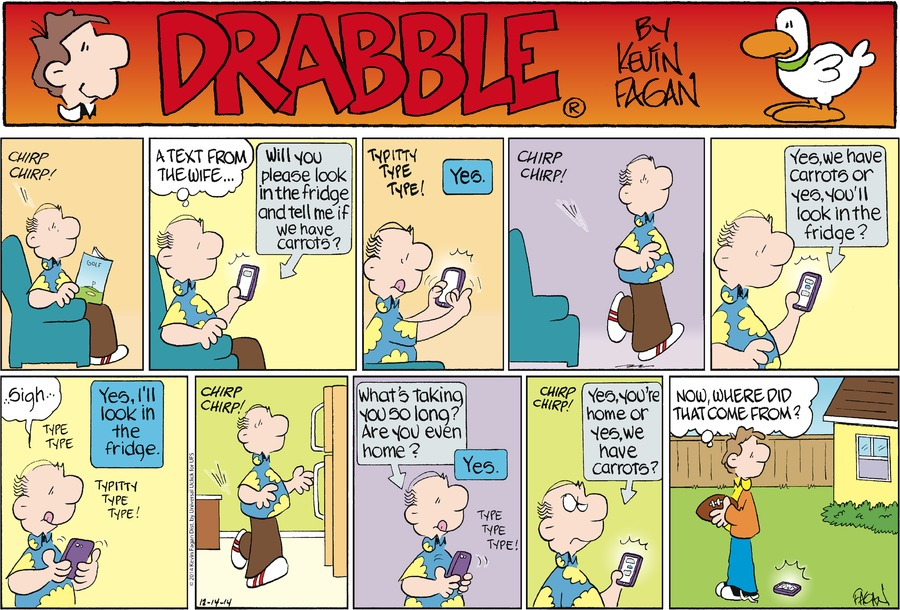 Drabble for Dec 14, 2014 Comic Strip