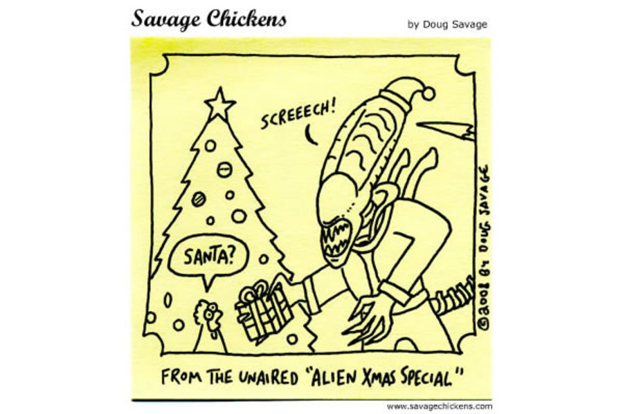 Savage Chickens Comic Strip for December 24, 2012