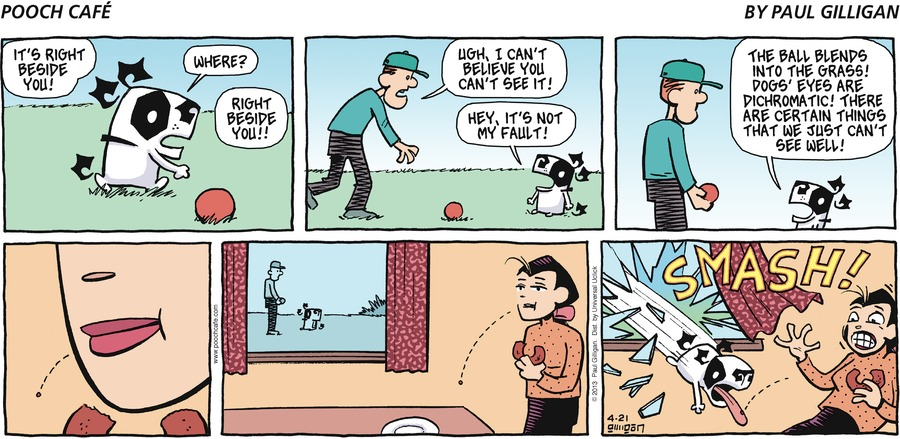 Pooch Cafe Comic Strip for April 21, 2013