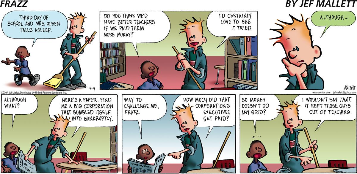 Frazz for Sep 9, 2007 Comic Strip