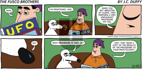 The Fusco Brothers on Sunday February 17, 2019 Comic Strip