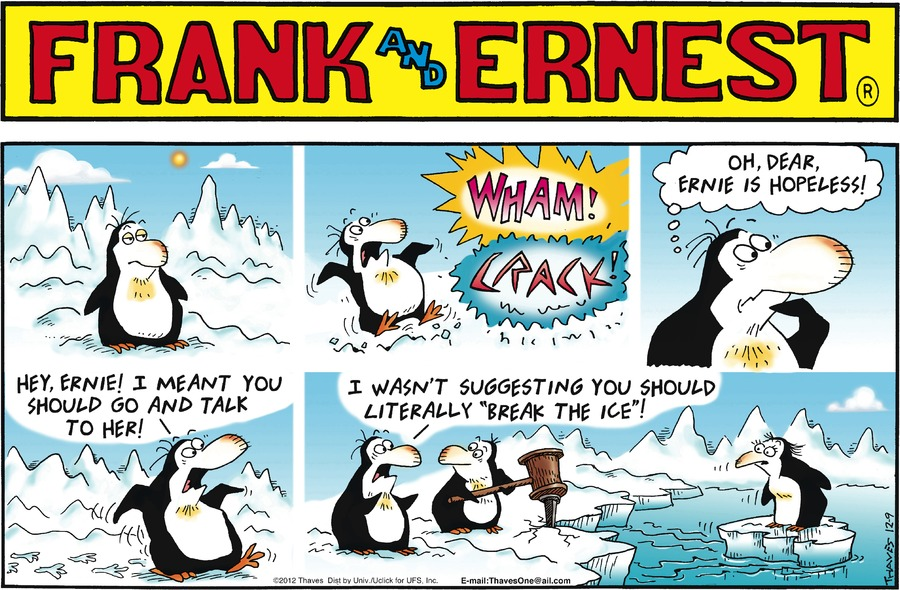 Frank and Ernest Comic Strip for December 09, 2012