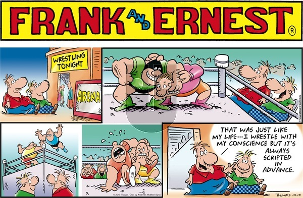 Frank and Ernest on Sunday October 13, 2019 Comic Strip