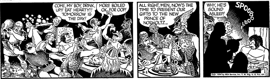 Alley Oop Comic Strip for September 01, 1954