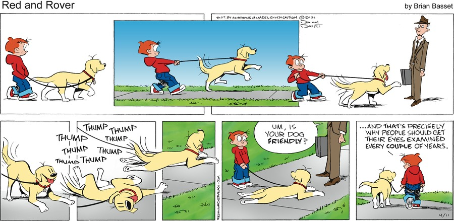 Red and Rover Comic Strip for April 11, 2021
