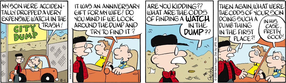 Drabble for Aug 1, 2009 Comic Strip