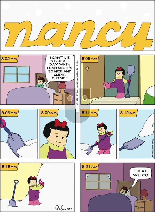 Nancy on Sunday January 24, 2021 Comic Strip