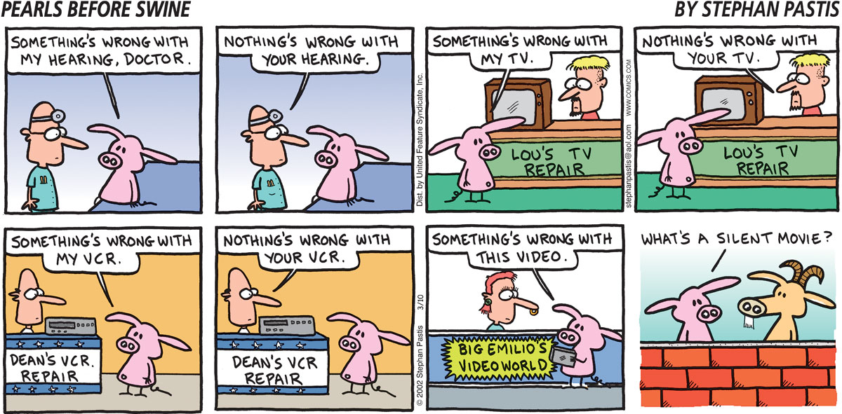 Pearls Before Swine Comic Strip for March 10, 2002