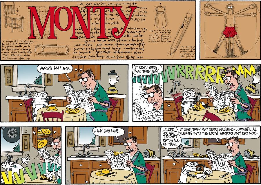 Monty for Nov 3, 2013 Comic Strip