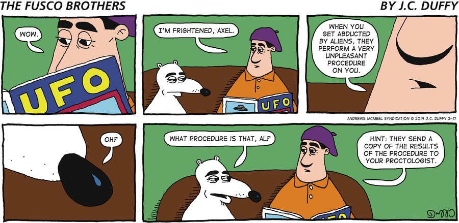 The Fusco Brothers Comic Strip for February 17, 2019