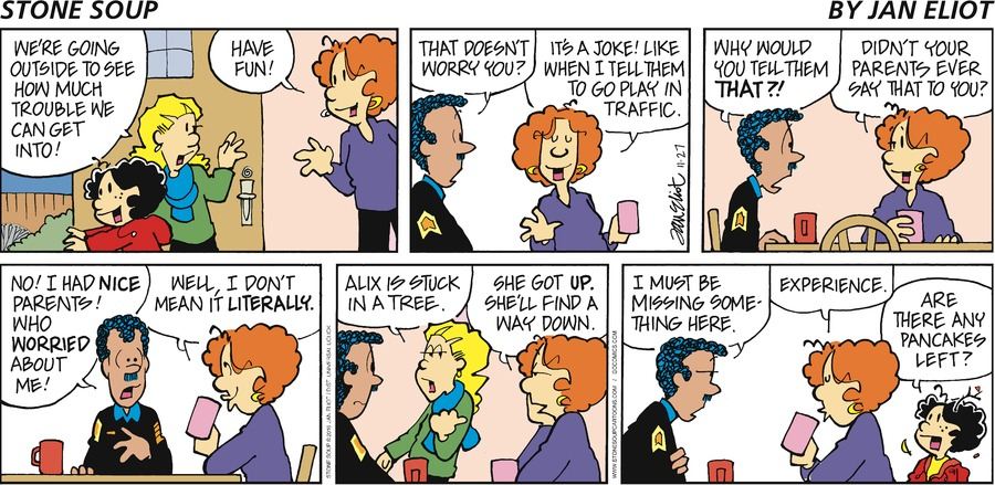 Stone Soup for Nov 27, 2016 Comic Strip