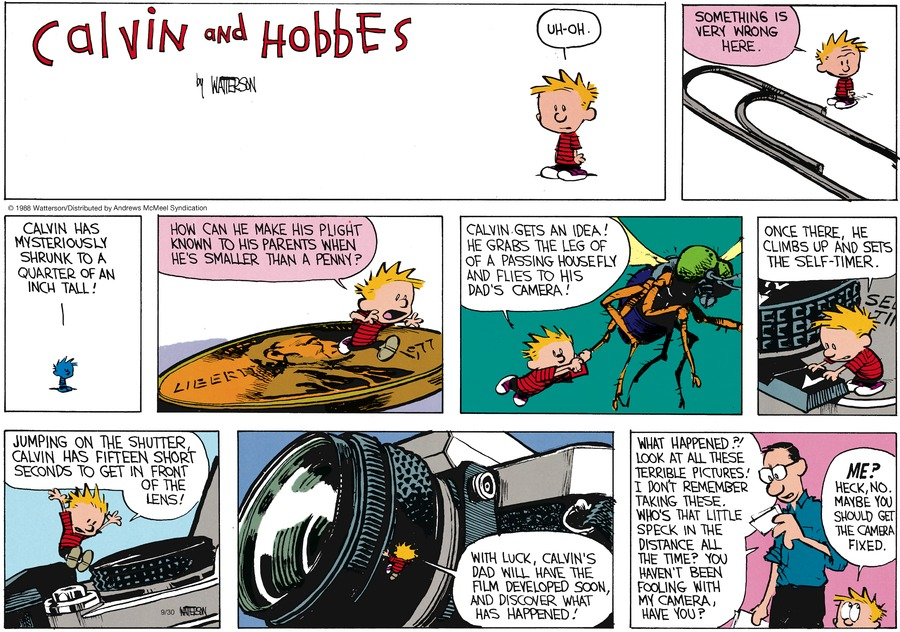 Calvin and Hobbes Comic Strip for September 30, 2018