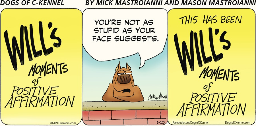 Dogs of C-Kennel Comic Strip for January 10, 2021