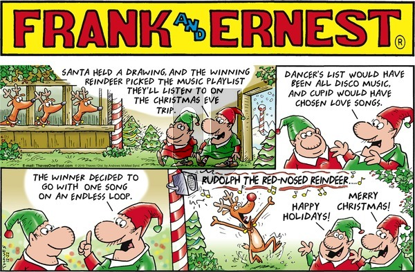 Frank and Ernest on Sunday December 22, 2019 Comic Strip