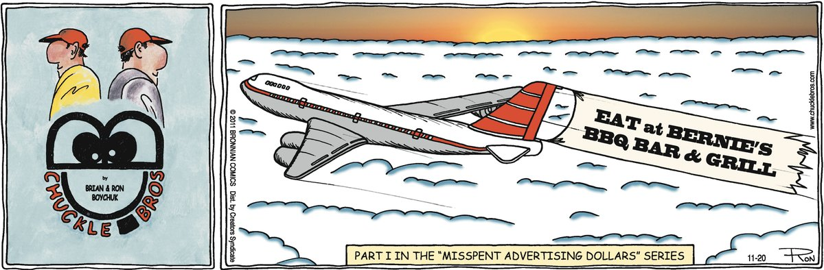 Chuckle Bros Comic Strip for November 20, 2011