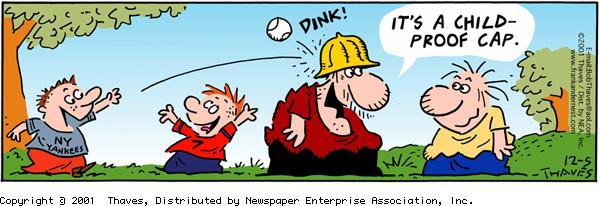 Frank and Ernest Comic Strip for December 05, 2001