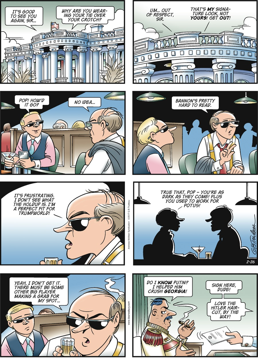 Doonesbury for Feb 26, 2017 Comic Strip