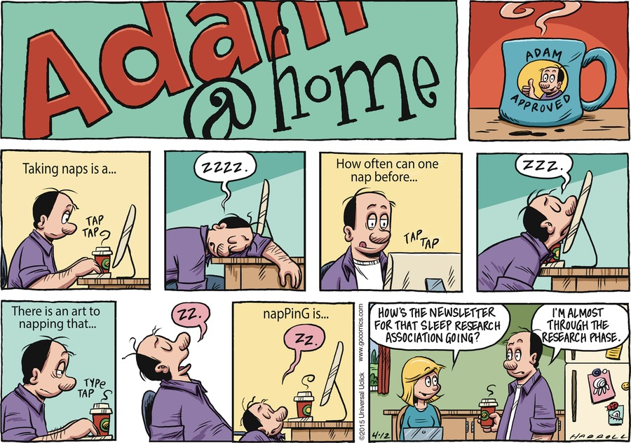 Adam@Home Comic Strip for April 12, 2015