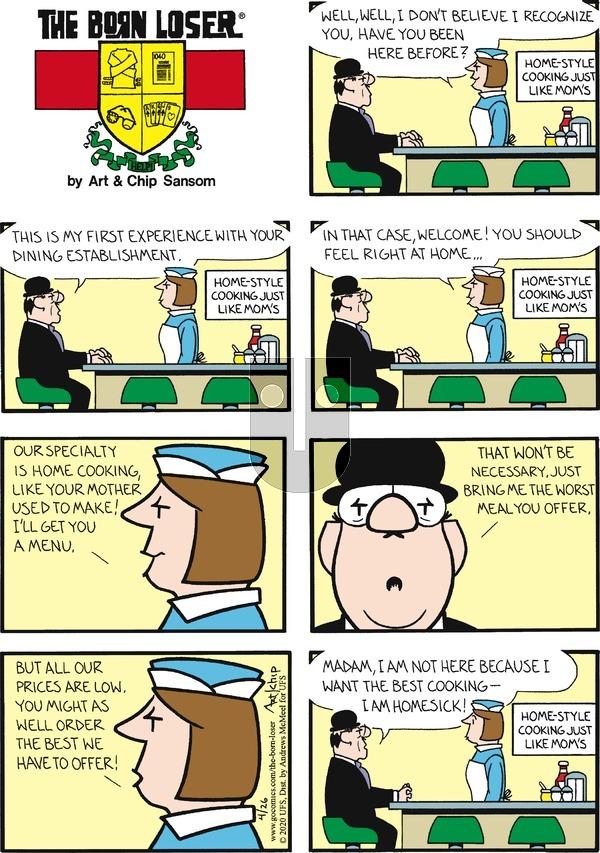 The Born Loser - Sunday April 26, 2020 Comic Strip