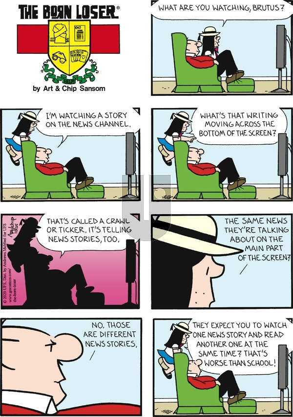 The Born Loser on Sunday October 25, 2020 Comic Strip