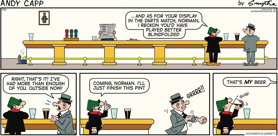 Andy Capp Comic Strip for February 28, 2021