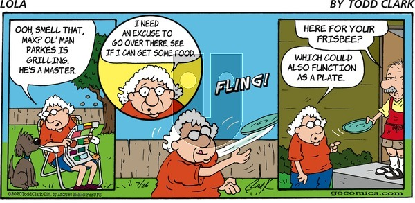 Lola on Sunday July 26, 2020 Comic Strip