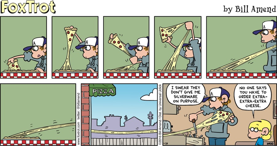 FoxTrot Comic Strip for January 24, 2016