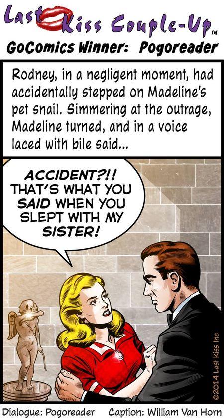 Last Kiss for Feb 19, 2014 Comic Strip