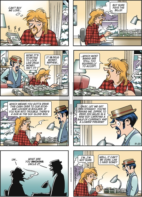 Doonesbury on Sunday November 23, 2014 Comic Strip