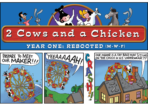 2 Cows and a Chicken for Mar 29, 2013 Comic Strip