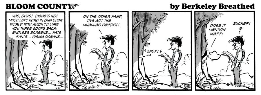 Bloom County 2018 by Berkeley Breathed for April 01, 2019