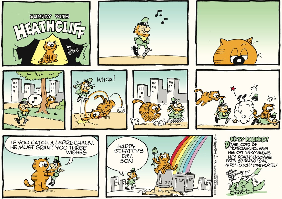 Heathcliff for Mar 17, 2013 Comic Strip