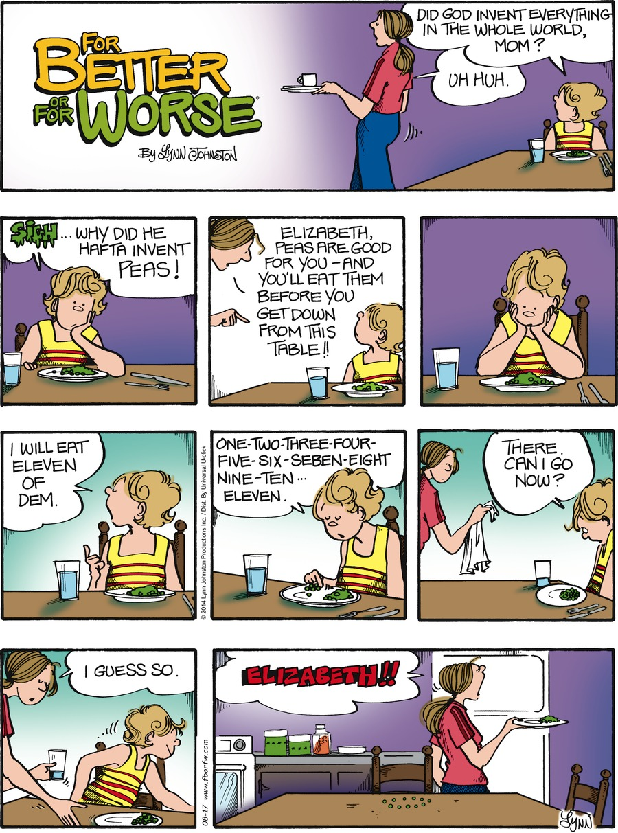 For Better or For Worse for Aug 17, 2014 Comic Strip