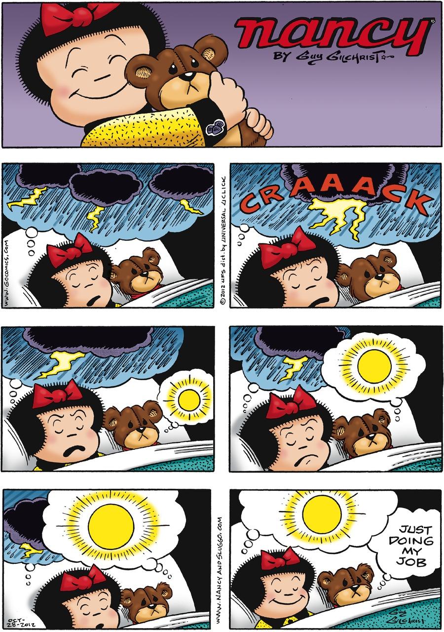 Nancy for Oct 28, 2012 Comic Strip