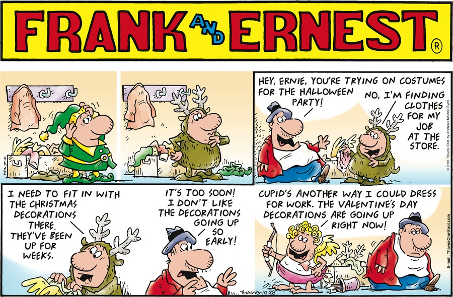 Frank and Ernest Comic Strip for October 28, 2018