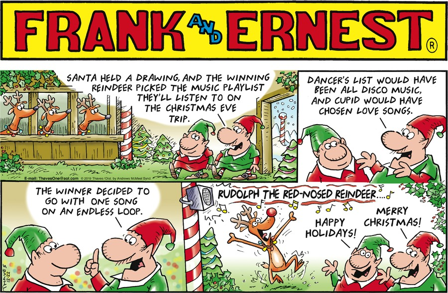 Frank and Ernest Comic Strip for December 22, 2019