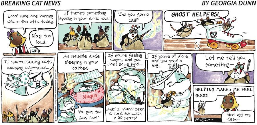 Breaking Cat News Comic Strip for October 11, 2020