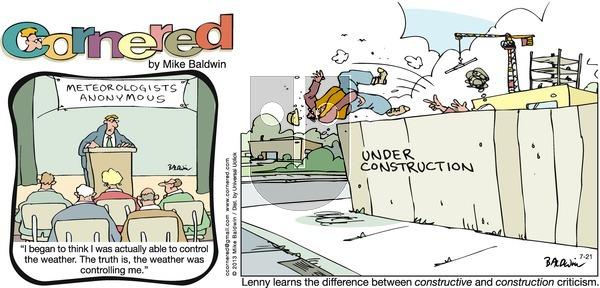 Cornered on Sunday July 21, 2013 Comic Strip