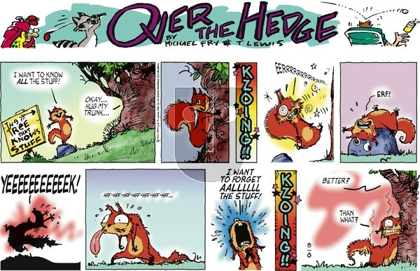 Over the Hedge on Sunday August 8, 2021 Comic Strip