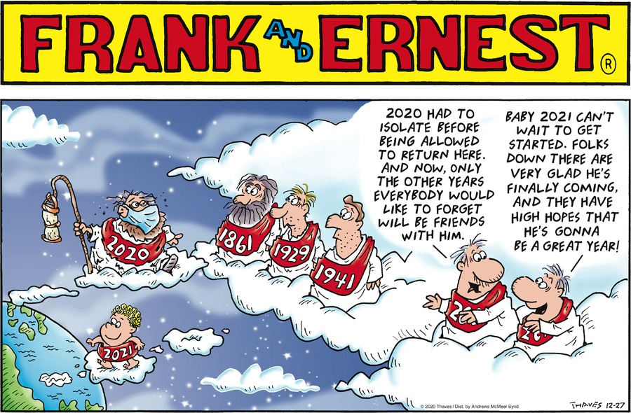Frank and Ernest Comic Strip for December 27, 2020