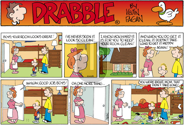 Drabble on Sunday October 4, 2009 Comic Strip