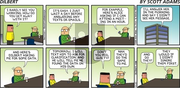 Dilbert on Sunday December 6, 2020 Comic Strip