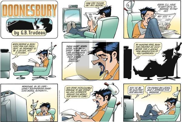 Doonesbury on Sunday July 11, 2004 Comic Strip
