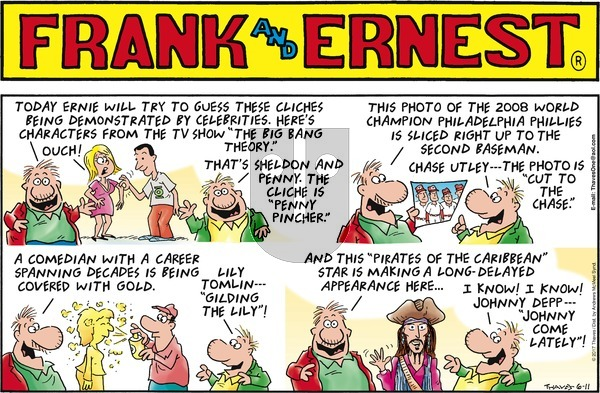 Frank and Ernest on Sunday June 11, 2017 Comic Strip