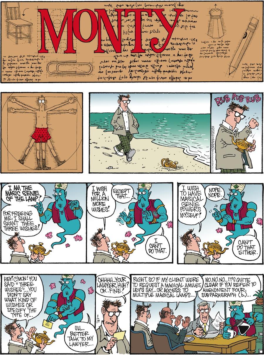 Monty Comic Strip for January 19, 2020